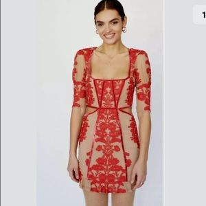 For Love And Lemons Temecula Fall Mini Dress